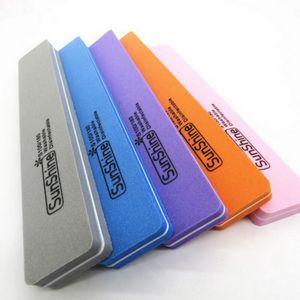 1PC Random Colors Manicure Kit Nail File Manicure Sponge Nail Files Sanding Paper Buffer a file abrasive bar