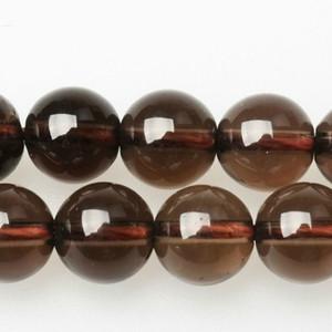 """8mm Piedra Natural Smooth ahumadas flojo de los granos de cuarzo negro 16"""" Strand 6 8 10 12 MM tamaño de la selección para la joyería"""