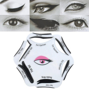 6Pcs Makeup Beauty Cat Eyeliner Smokey Eye Stencil Models Template Shaper Tool