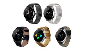 K88H Smart Watch 1.22 inch Round Full view Bluetooth Heart Rate Monitor Pedometer Wristwatch For Android IOS