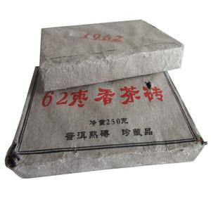 250g Olgun Pu Erh Çay Yunnan 1962 Hünnap koku Puer Çay Organik Pu'er En Eski Ağacı Pişmiş Puer Doğal Pu erh Tuğla Siyah Puerh Çay