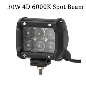 1 peça 12 V 4 polegadas Mini Bar 4D lente 30 w OSRAM Levou Barra de Luz para Tractor Reboque Pickup caminhão Offroad