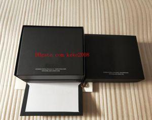 Luxo de Alta Qualidade IW Assista Caixa Original Papers Bolsa Caixas De Couro IW388005 Cronógrafo Mens Mulheres Gift Watches Box