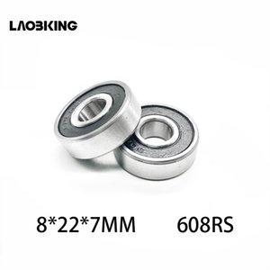 608 RS 608-2RS 8*22 * 7 мм скейтборд шарикоподшипники глубокий паз стали миниатюрные 608-2RS 608 2rs подшипник 608RS 8X22X7mm