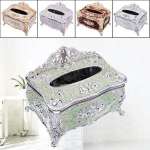 1PC Elegant Gold Tissue Box Cover Chic Napkin Case Holder Hotel Home Decor Organizer