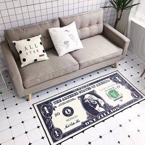 70 * 155 CM Retro Creativo Dólar Alfombras Sala de estar sala de estudio dormitorio mesa de café junto a la cama Tiras Largas Alfombras de Piso Alfombra Y Alfombra
