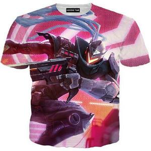 LOL Harajuku Sommer T-Shirt T-Shirt Männer / Frauen 3D-Druck T-Shirt League Legends 3D-T-Shirt Druck Sommer Kurzarm