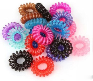Women Hairband Girl Headband Telephone Cord Elastic Ponytail Holders Hair Ring Scrunchies For Girl Rubber Band Tie A040sold by lot 100pcs