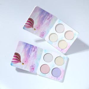 DHL бесплатно HANDAIYAN Палитра для выделения хамелеона Контурная косметика для лица Подсветка Bronzer Glow Aurora Shimmer Eyeshadow Cosmetic Kit