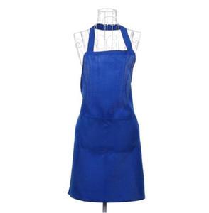 멀티 컬러 패션 앞치마 솔리드 컬러 큰 포켓 가족 요리 요리 홈 베이킹 청소 도구 턱받이 베이킹 아트 앞치마가 있음