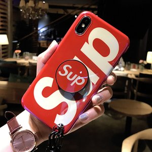 Designer de moda phone case para iphone x / xs xr xsmax 6/6 s 6 plus / 6 s plus 7/8 7 plus / 8 plus marca phone case com airbag kickstand colhedor
