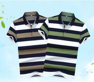 Camicia per uomo a righe in puro cotone a righe estate comoda e traspirante