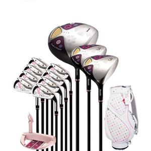 Nuevos clubes de golf para mujer Maruman FL golf juego completo de palos conductor + madera fairway + putter + Bolsa eje de golf de grafito Envío gratis