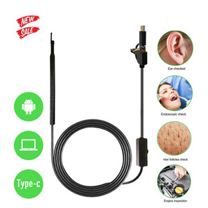 3 IN 1 Otoscope Endoscope Camera 720P HD Visual Ear Spoon Ear Pick Ear Cleaner Cleaning Endoscope Borescope OTG Android