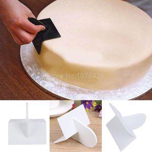 4 Styles DIY Cake Decorating Edger Angle Smoother Paddle Tool Icing Fondant Polisher Finisher