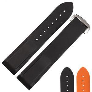 Natürliche Silikon-Gummi-Uhrenarmband Faltschließe Wasserdicht Armband Für OMEGA 20MM 22MM