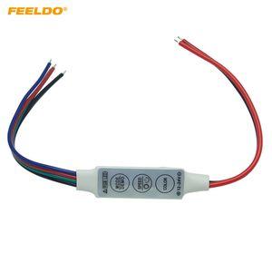 FEELDO 2 UNIDS Coche DC12V ~ 24V LED Flasher Module Flash Strobe Controller Con Connecotr de 4 Cables Para Tira de Luz LED # 3965