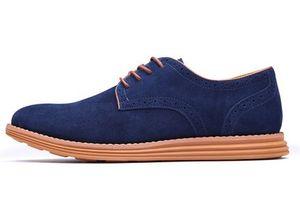 Erkek deri kısa ayakkabı eğlence tatil sığır süet moda ayakkabılar büyük suded amazon ins ayakkabı zyx01-1