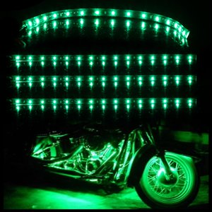 Green 4pcs 30CM//15 LED Car Motors Truck Flexible Strip Light Waterproof 12V HK