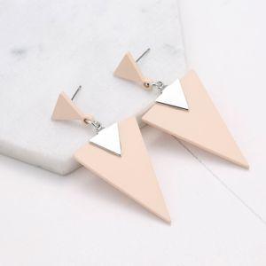 Мода новый 2018 творческий геометрический треугольник 925 серебряный стержень простые серьги крутые нордические серьги аксессуары для ушей