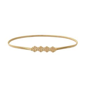 Cinturones de oro de la flor para las mujeres Cinturones de cadena de cintura elástica Mujer Plata Señoras Para Vestidos Hebilla de metal de moda de mujer 2018