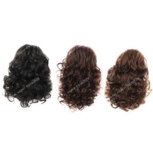 Hair Bun Medium Long Curly Short Ponytail Drawstring Hairpiece Nero