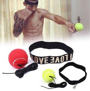 New Fight Exercise Tennis Ball Palloni da allenamento fitness Boxe con fascia gialla / rossa