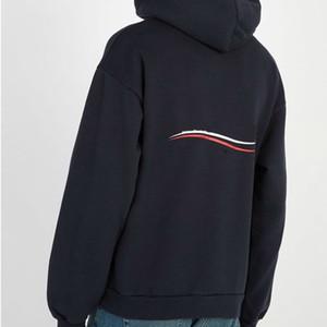 Европейский Cola Wave свитер Vintage Street Fashion Long Sleeve Comfort Свободные мужчины и женщины пара с капюшоном свитер HFSSWY033