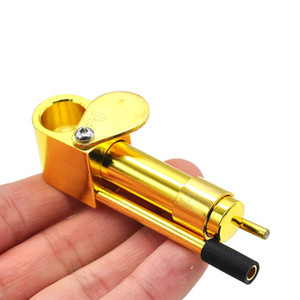 Messing Proto Pipe Vaporizer 3,9 Zoll Portable Metall Rauchen Rohre Goldene Farbe Ultimate Tool Tabakpfeifen Öl Herb Versteckte Schüssel