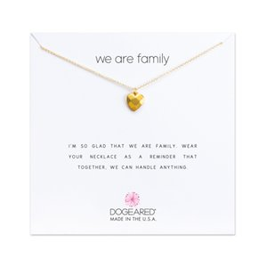 Newest With card! gold Silver color Dogear Necklace with different pendant