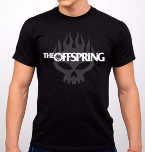 Online T Shirts Design Rundhalsausschnitt Herren The Offspring Rock Band Herren T-Shirt Schwarz New Short - Sleeve Gift Shirts