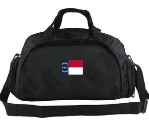 North Carolina sac polochon USA NC zone fourre-tout Grand sceau sac à dos drapeau de l'État de Raleigh Bannière bagages Sport sac à bandoulière en plein air sac bandoulière