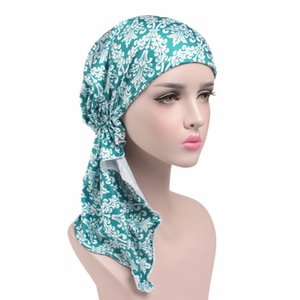 New Elastic Cloth Casquette Printing Turban Scarf Cap Chemotherapeutic Hat Fashion Women Beanie Hot Sale 8 84gf gg