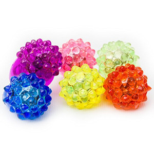 Bolla lampeggiante Ring Rave Party Lampeggiante Soft Jelly Glow Hot Nuovo arrivo Flash LED Soft Strawberry Light To! Cool Led Light Up Spedizione gratuita