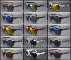 Lot New Brand design Sport Shine Outdoor Eyewear Dot Travel Reflective Square Woman Man Glasses Sunglasses Goggles Mirror Unisex Wholesale