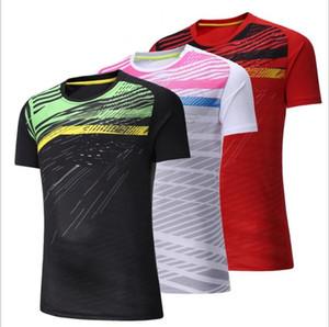 New 2018 women men badminton wear short sleeved shirts men women table tennis T-shirt sweat absorbent breathable tennis sports clothes