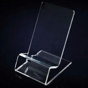 Nouveau support d'affichage universel universel transparent clair support de montage acrylique montré pour iphone Samsung téléphone portable téléphone mobile