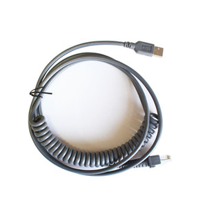 5pcs New 3M USB Hetero Primavera Cabo Para Datalogic D100 GD4130 QD2130 Barcode Scanner Cabo