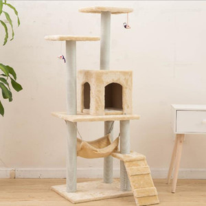 New Cat arbre Tower Condo Furniture Scratch Poster Cat Pet Maison Jouer Escalade Cadres Scratching Boards Cats Nest