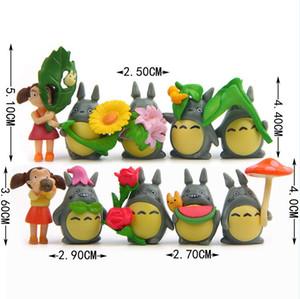 10pcs / lot Mon voisin Citrouille Totoro Mei PVC Figure Studio Ghibli Action Figure Collection Modèle Jouet Home Decor