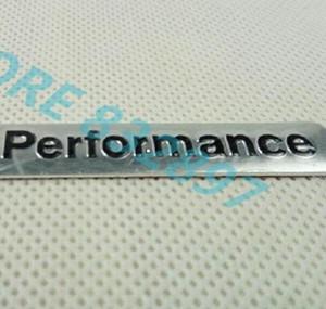 Großhandels20pcs / lot 3D-Aluminium-Legierung M Performance Autoaufkleber Auto-Styling-Abzeichen-Emblem Metall Aufkleber Dekoration 85 * 12mm schwarz silber