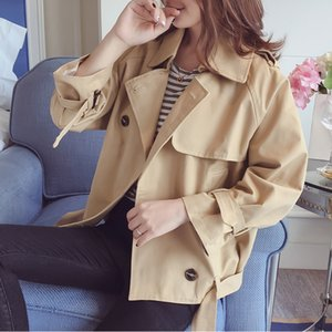 KULAZOPPER 2018 Autumn New High Fashion  Woman Classic Single Breasted Trench Coat Students Casual Loose Outerwear ZS449