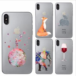 E343Thinckness Personnalisé créatif peinture de cas Mobile téléphone housse de protection TPU soft case cover en gros pour iphone