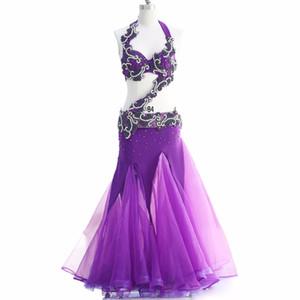 Nueva Llegada 2018 Oriental Belly Dance Costume Profesional 3 piezas Set Bra Cinturón Falda Belly Dancing Costume Set Egyptian