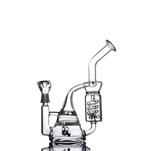 Recycler Dab Rigs Honeycomb Bong Percolator Water Pipes Thick Glass 12.5 Inches and 14mm Joint