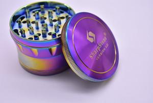 RAINBOW 60mm SharpStone Version 2.0 Herb Grinder 63mm 4 couches fumeurs de tabac Sharp Stone Grinder fumeurs Accessoires