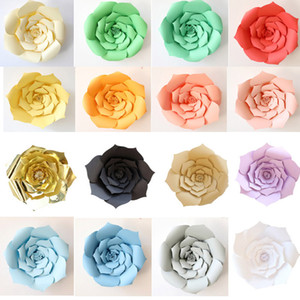2Pcs set DIY Paper Flowers Artificial Rose Flowers Wedding Window Decoration Crafts Baby Shower Birthday Party Home Decorations HH7-1083