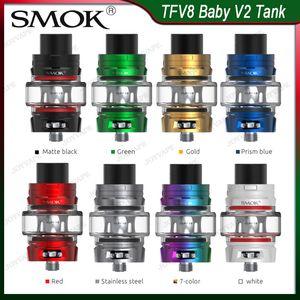 Аутентичный SMOK TFV8 младенец V2 Tank Атомайзер 5ML с младенцем V2 A1 A2 Катушкой Быстрее Нагрев Массивной Vapor антибактериальной утечки дизайна
