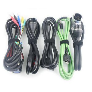 MB SD Connect C5 MB Star C5 Juego completo 5pcs Cable de trabajo para coches y camiones MB Star C4 cable diagnosticitc de alta calidad