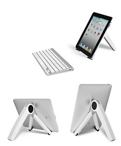 Portable fold stand holder for IPAD laptop tablet book black white cooling holder for celll phone